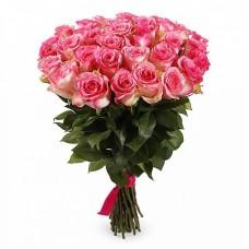 Букет из 33 роз Джумилия с упаковкой 60см